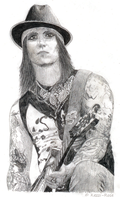 Synyster Gates Portrait by Kezzi-Rose
