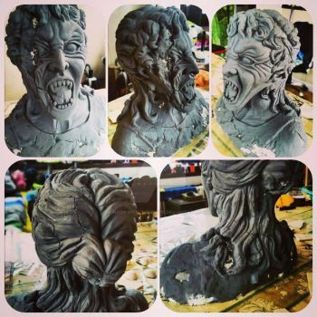 broken weeping angel statue by made-me-a-monster