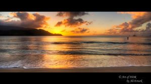 Hawaii, Sunset by alierturk