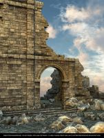 FREE STOCK - Castle Ruins Background by ArtReferenceSource