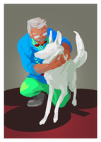 10 of Clubs: Grandpa and Bec by FlashofMauve