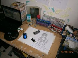 My Workstation + Art Supplies Vid by AngelicsMana