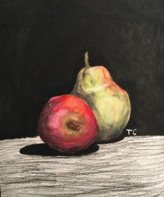 oil pastel fruit by trash-chiId