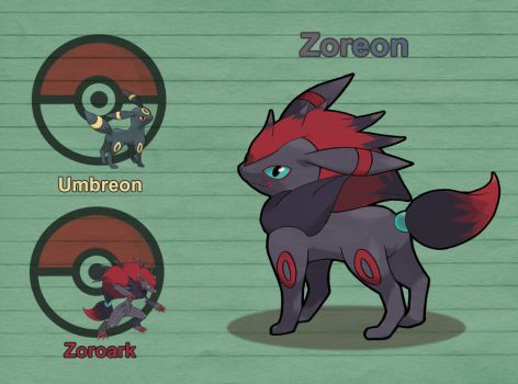 Poke Fusion - Zoreon by PokeFusionMan