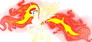 Fire Element Pony  with Sparkles by Nyxcatti