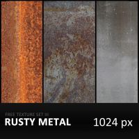 Texture Set III      Rusty Metal by diGitALae