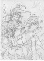 Witch sketch by scarecrowhassan