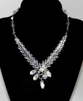 Silver Autumn Bridal Elegance - Necklace by ZeldaLassing