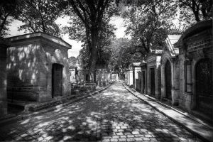 Pere Lachaise 06 - Path to Heaven by GiardQatar