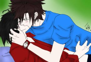 Akinara and Stephen Colored by Itachisgirl4ever