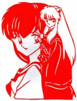 Inuyasha and kagome paparcut by usagisailormoon20