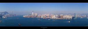 Victoria Harbour Panorama by geckokid