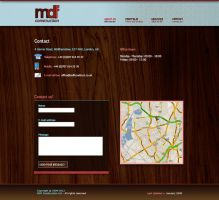 MDF Construction contact page by marame