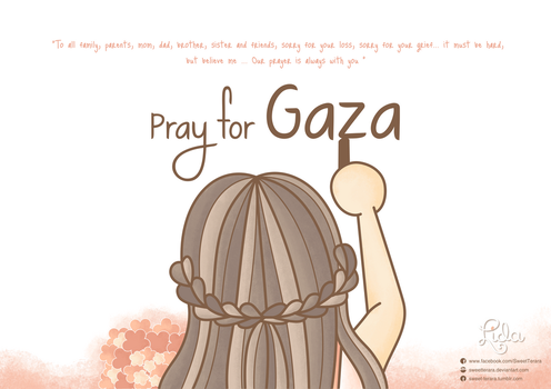 Pray For Gaza by sweetterara