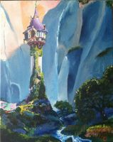 Tangled - Rapunzel's Tower by Nightsevera