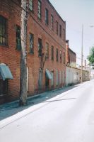 Empty street, Abandon factory by thePARANOIDghost