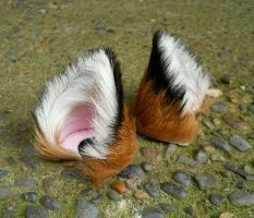Small Red Brown Black Fox Kitsune Ears by StorytellerZero