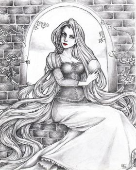 -- rapunzel, rapunzel, let down your hair -- by jadedice