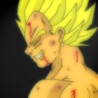 Damaged Vegeta by Dbzbabe
