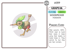 Fakemon - Grapeak by AdamantShimmer