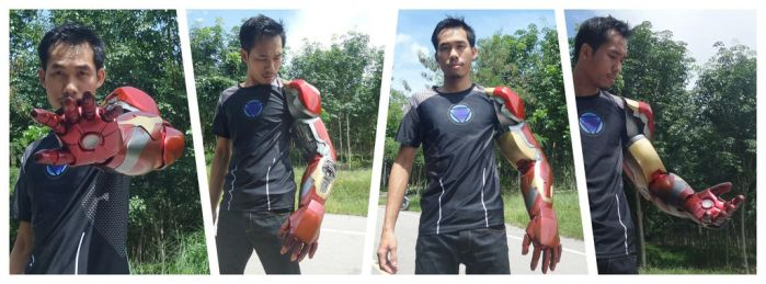 Iron man left arm mark42/43 100% completed by PootPoster