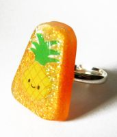 Cute pineapple ring by BazaarHereToday