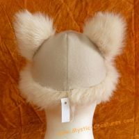Pomeranian hat with furred ear by Mystic-Creatures