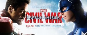 Captain America: Civil War - Theatrical Banner #3 by spacer114