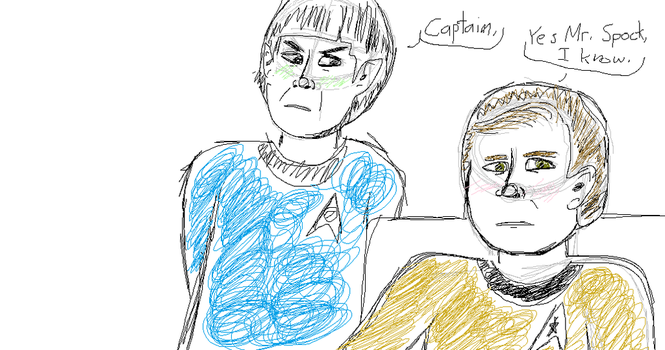 kirk and spock by rosey-the-fox