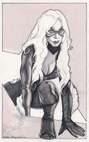black cat - pencil and marker by strib