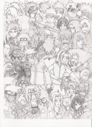 how to draw naruto shippuden characters. how