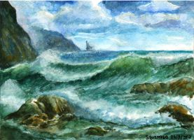 Landscape lesson #2 : Seascape by thaomani