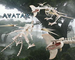 Avatar's Toruk Skeleton by pokequaza