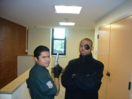 Chris and Nick Fury by MacArther