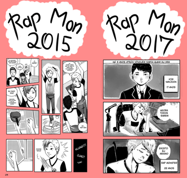 Rap Monster 2015 e 2017 by Rebeca-Honney