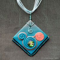 Swirly Mickey Mouse pendant by Mag-Dee