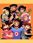 Game Grumps art book entry by zamii070