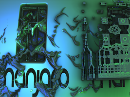 infected motherboard Manjaro wp by fraterchaos