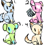 Puppy adoptables 4 POINTS EACH [2 LEFT] by FUNKIferret