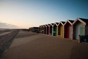 Blyth Beach Huts Sunrise by svendo
