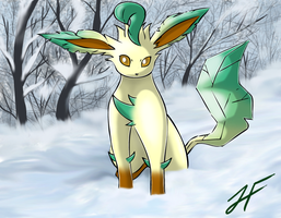 Leafeon by TheRealPhoenix