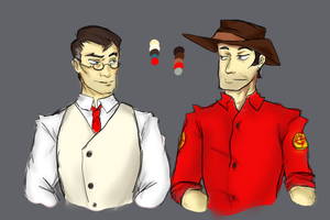 Medic and Sniper by DreamXxXDemon178