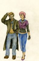 Remus and Tonks by SpottedNymph