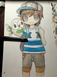 Pokemon Trainer with Rowlet by snowflakeflower9