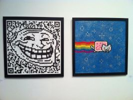Saw this in a gallery in Miami by Churro900