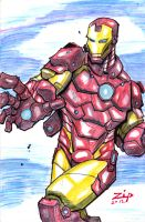 Ironman Colored sketch by ZipDraw