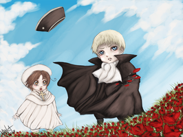 Red Poppies . Hetalia by ManaSaya
