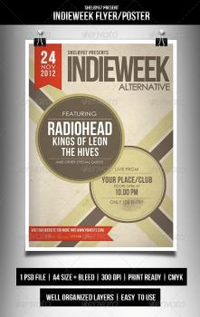 Indieweek Flyer / Poster by Eleanor67
