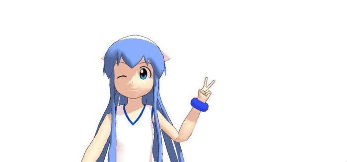 [MMD] Squid Girl doing a selfie by MarcosPower1996