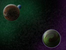Space and Planets by JadeZenRaven